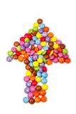 Поднимающее вверх конфеты более близкое Стоковые Изображения RF