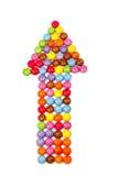 Поднимающее вверх конфеты более близкое Стоковое Изображение