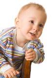 поднимающее вверх ребенка близкое Стоковое Изображение