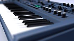 Поднимающее вверх синтезатора/клавиатуры близкое Стоковые Изображения RF