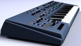 Поднимающее вверх синтезатора/клавиатуры близкое Стоковое фото RF