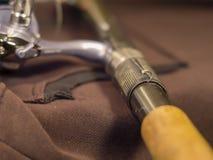 Поднимающее вверх штанги и крюка ручки близкое Стоковое Изображение RF