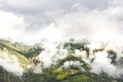 Поднимаясь туман в южном Тироле Стоковое Фото