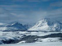 Поднимая гора волка, зима Стоковое Изображение RF