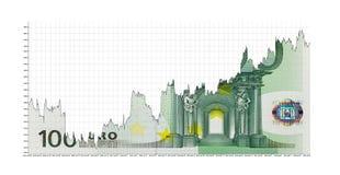 Поднимая евро Стоковые Изображения