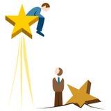 Поднимая звезда Стоковые Фото