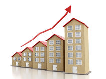 Поднимая рынок недвижимости Стоковое Фото