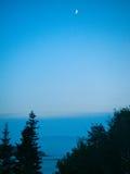 Поднимая луна Стоковое Фото