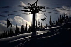 поднимите лыжника горы Стоковое Фото
