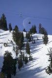 поднимите наклон лыжи держателя розовый Стоковое Изображение RF
