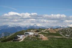 поднимите станцию лыжи Стоковые Фотографии RF