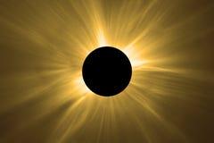 Полное солнечное затмение Стоковая Фотография RF