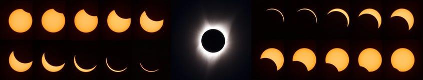 Полное солнечное затмение 2017 Стоковая Фотография RF