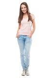 Полное тело молодой женщины стоковая фотография rf