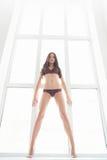 Полнометражная красота. Красивые молодые женщины представляя пока стоящ Стоковые Изображения RF