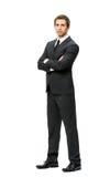 Полнометражный портрет бизнесмена при пересеченные руки Стоковая Фотография RF
