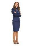 Полнометражный портрет уверенно бизнес-леди Стоковое Изображение
