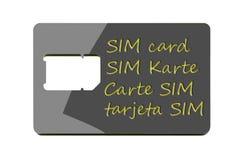 Полноразмерная несущая карточки SIM Стоковые Фото