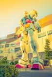 Полноразмерные представления вне площади токио DiverCity, Oda Gundam Стоковые Фотографии RF
