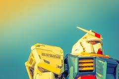 Полноразмерные представления вне площади токио DiverCity, Oda Gundam Стоковые Изображения RF