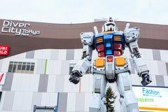 Полноразмерные представления Gundam RX78 на площади токио DiverCity Стоковые Фотографии RF