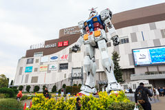 Полноразмерные представления Gundam RX78 на площади токио DiverCity Стоковое Фото