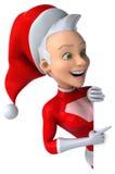 полностью архив элементов цвета cmyk claus рождества знамени легкий editable наслоил режим отдельно установленный santa супер иллюстрация вектора