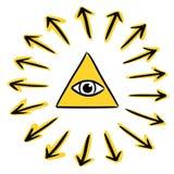 Полностью видя глаз - бог Стоковая Фотография