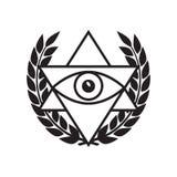 Полностью видя глаз в треугольнике перепада Стоковое фото RF