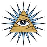 Полностью видя глаз Провиденса Стоковые Изображения