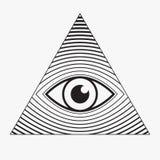 полностью видя символ глаза Стоковые Изображения RF