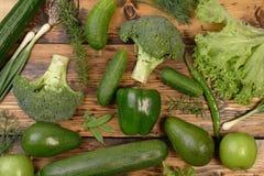 Полностью зеленая еда Стоковое Фото