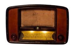 полностью изолированная белизна сбора винограда логосов извлекли радио, котор Стоковое Изображение
