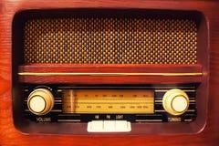 полностью изолированная белизна сбора винограда логосов извлекли радио, котор стоковые изображения