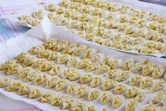 Подносы с вегетарианским tortelli Стоковое Изображение RF