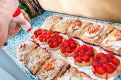 Поднос пирогов стоковое фото