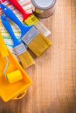 Поднос ролика кисти инструментов картины может покрасить Стоковые Фото