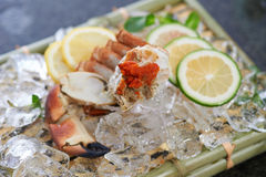 Поднос свежих морепродуктов Стоковое Изображение