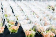 Поднос с едой пальца канапе Стоковое Фото