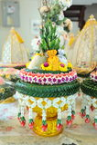 Поднос с постаментом для wedding Стоковое Фото