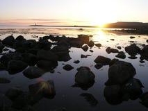 Полночь Солнце Стоковое Фото