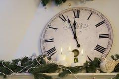 Полночь часов ` почти 12 o Стоковое Фото