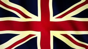 Полноэкранный флаг FHD британцев сток-видео