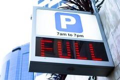Полно припаркованный Стоковое фото RF