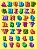 Полный алфавит установленный в цветастый uppercase Стоковое Изображение RF