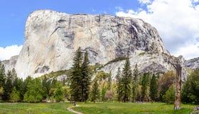 Полный взгляд панорамы EL Capitan на Yosemite стоковые фотографии rf
