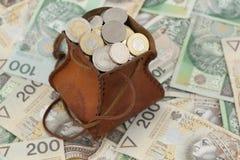 Монетки и кредитка Стоковые Изображения RF