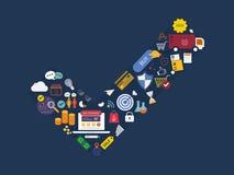 Полный круг изучения рыночной конъюнктуры, реклама Стоковые Изображения