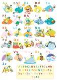 Полный набор алфавита динозавра Стоковые Фотографии RF