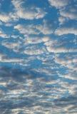 Полный фон с облаками - пасмурный день - вертикаль Стоковые Фотографии RF
